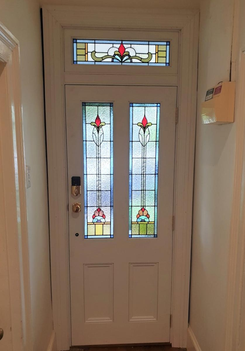 leadlight Stained Glass entry doors design