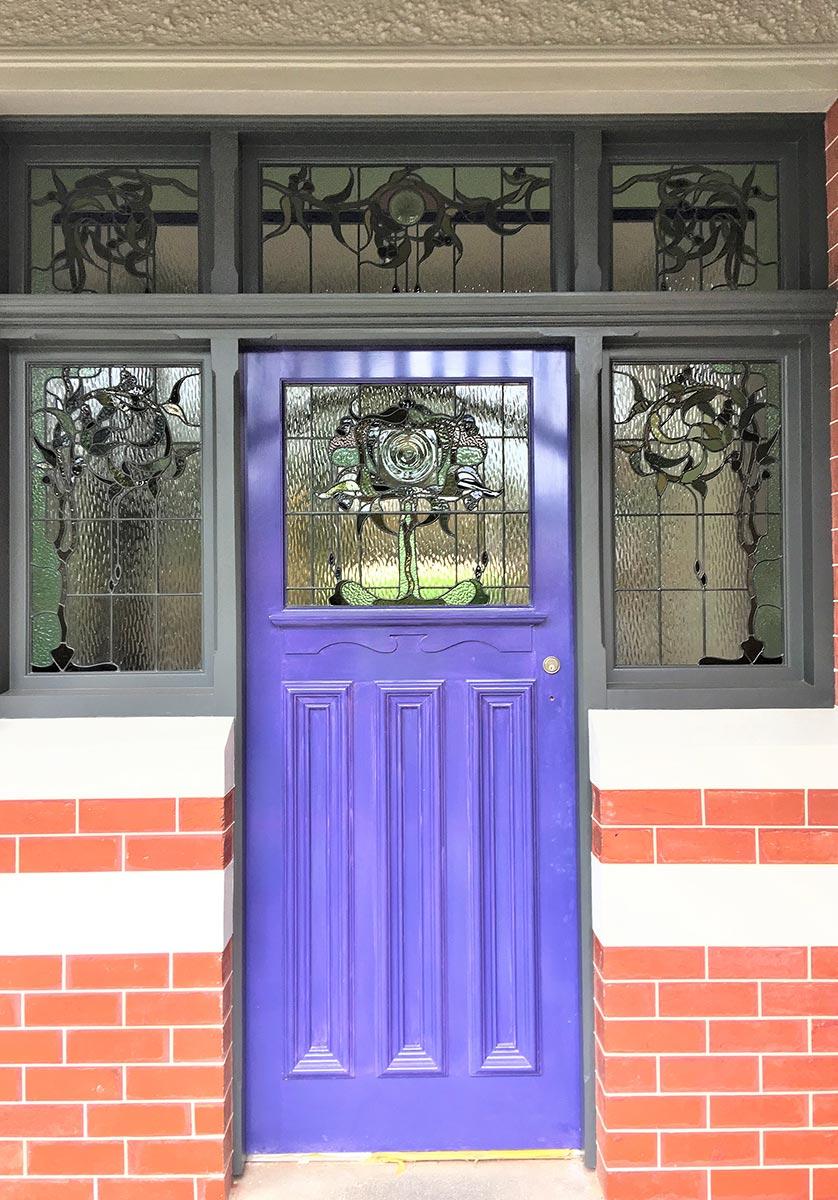 leadlight entry doors melbourne