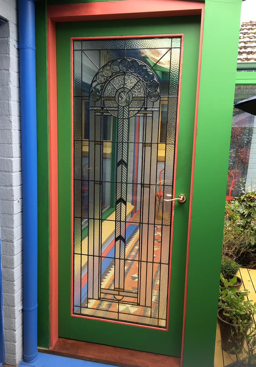 leadlight stained glass door image