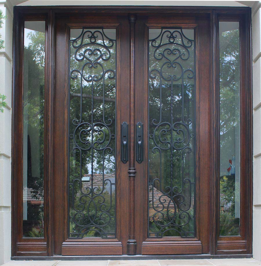 timber front Entrance doors Hampton