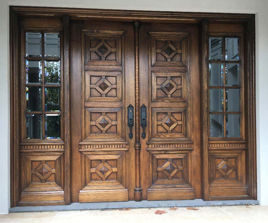 solid timber entrance doors with glass Hawthorn Melbourne