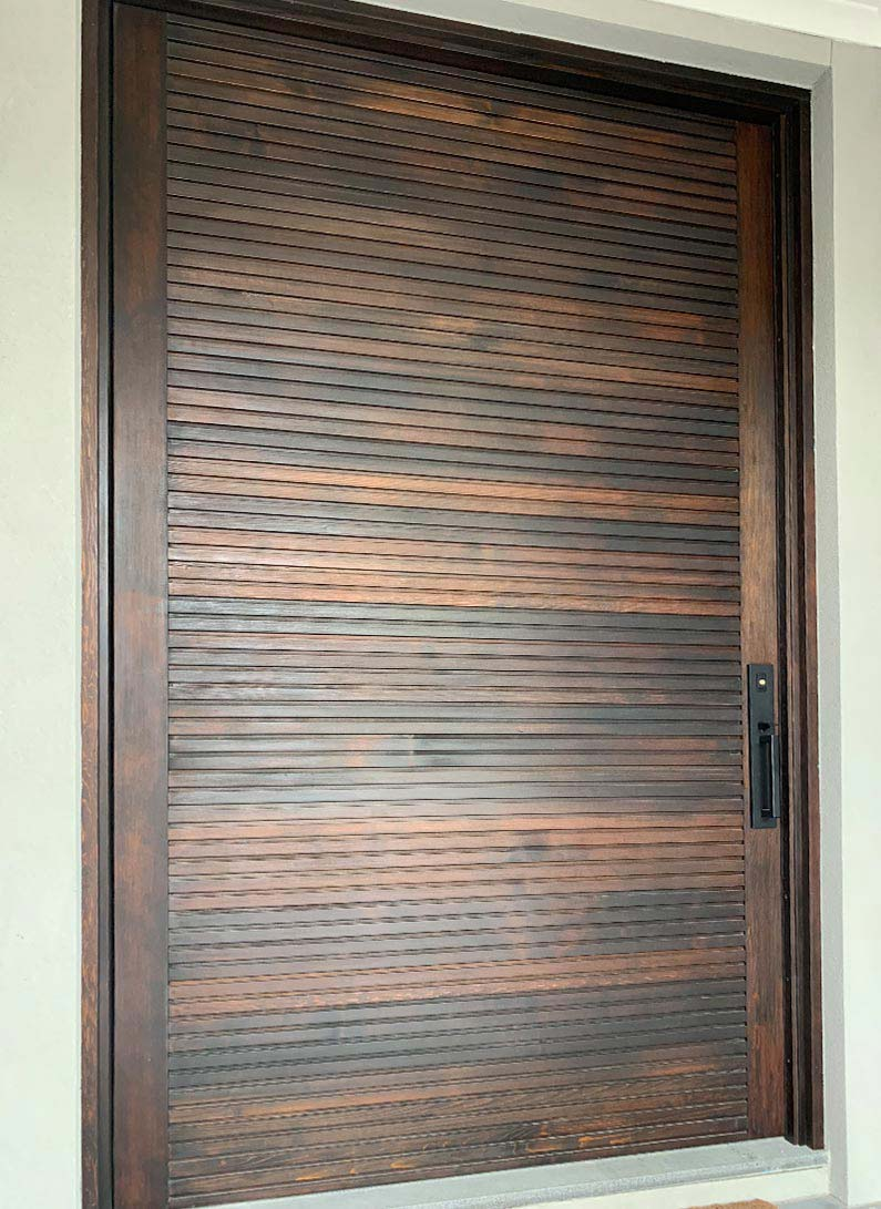 Exterior solid timber Entrance Doors with glass surrey Hills Melbourne