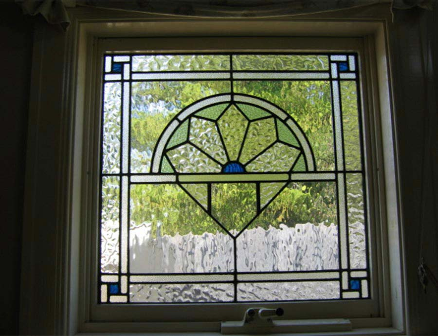 Art Deco leadlight window design