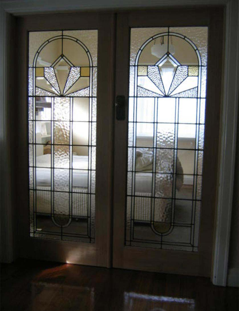 Art Deco leadlight glass window