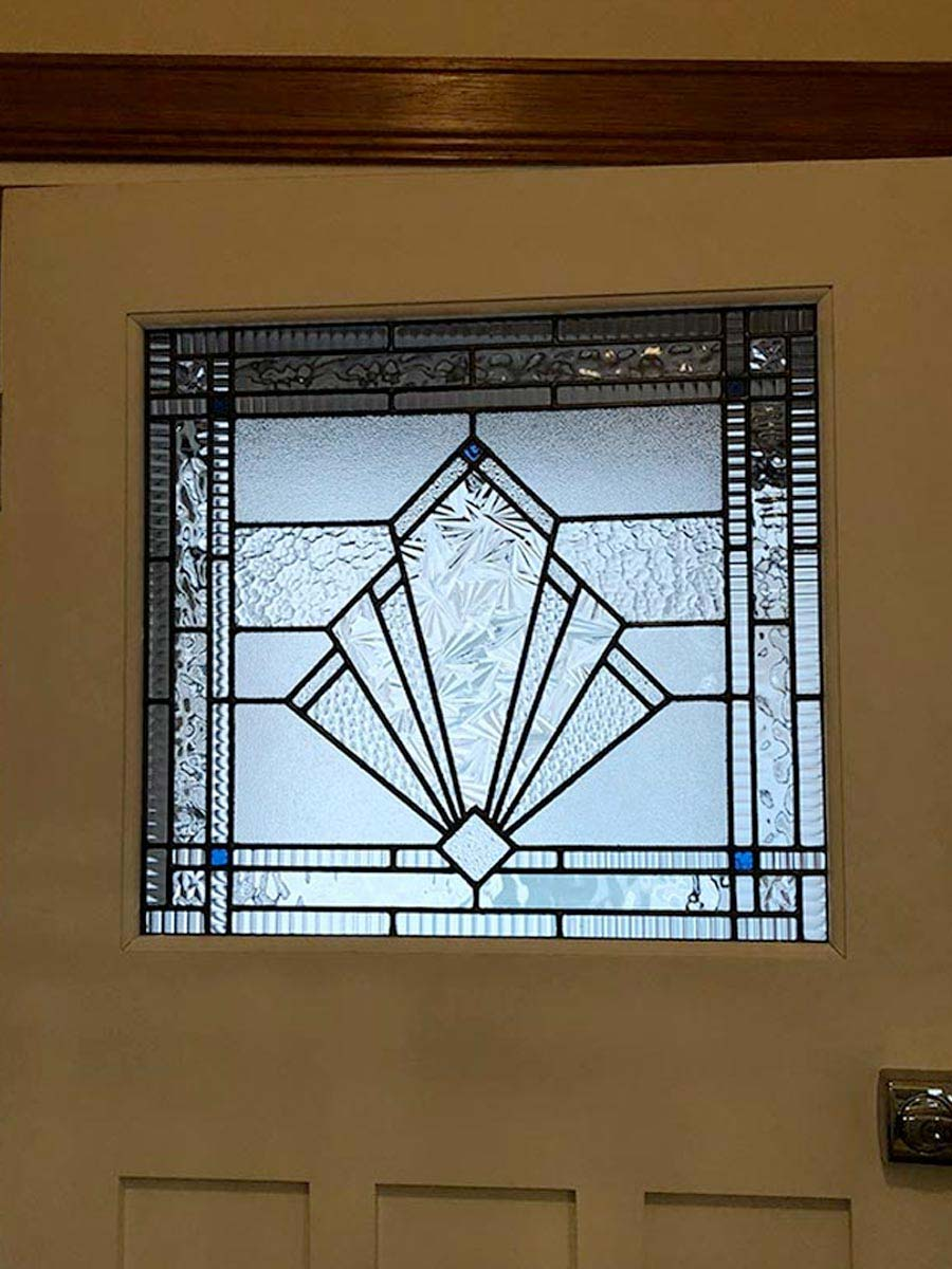 Art Deco leadlight window