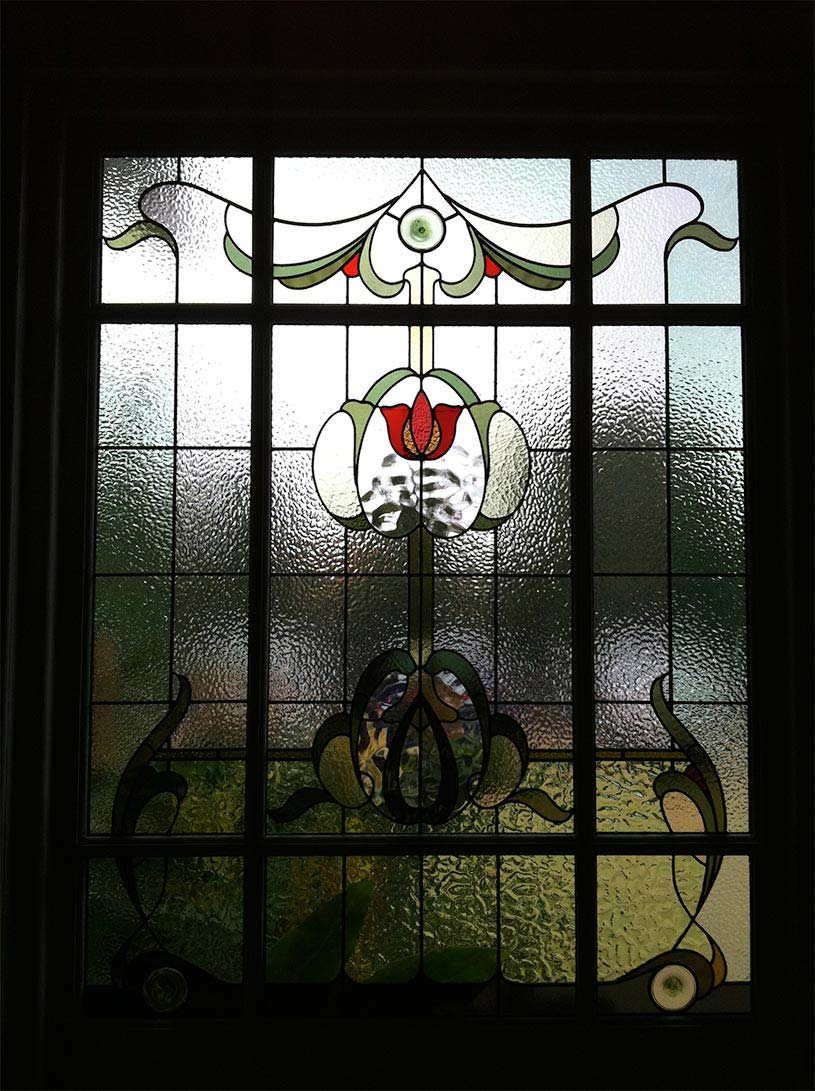 Edwardian leadlight window
