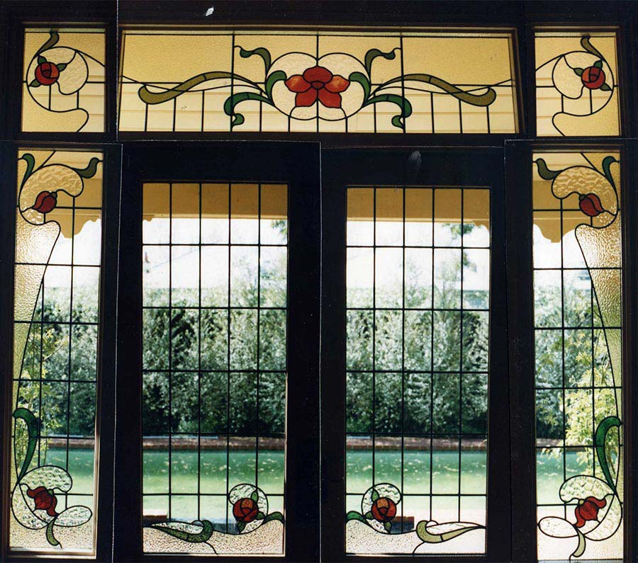 leadlight glass window image