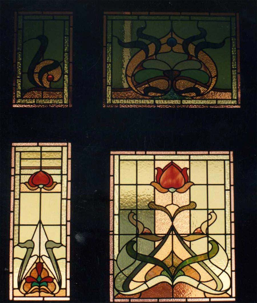Edwardian leadlight glass window