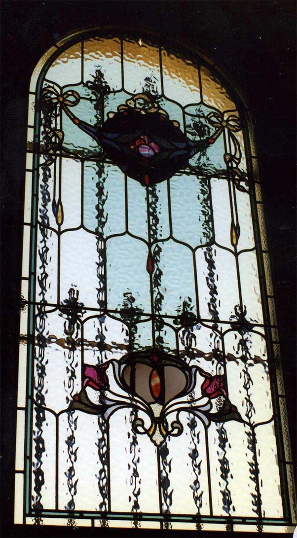 Edwardian leadlight window image
