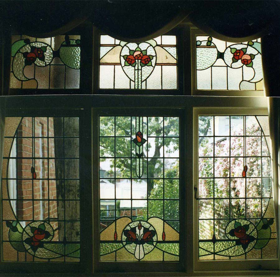 Edwardian leadlight window design