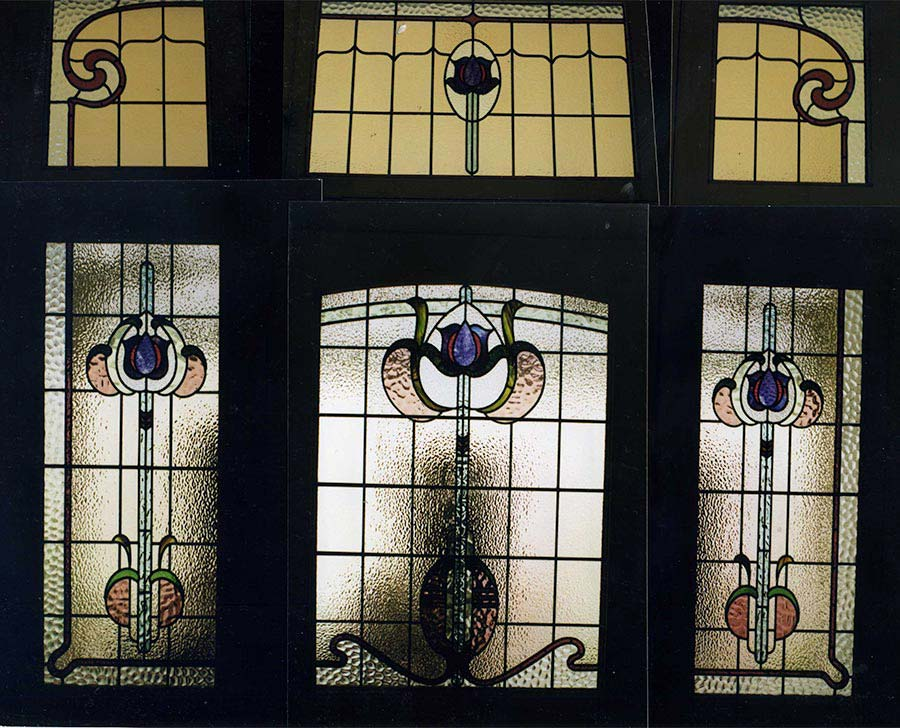 Edwardian leadlight glass window design