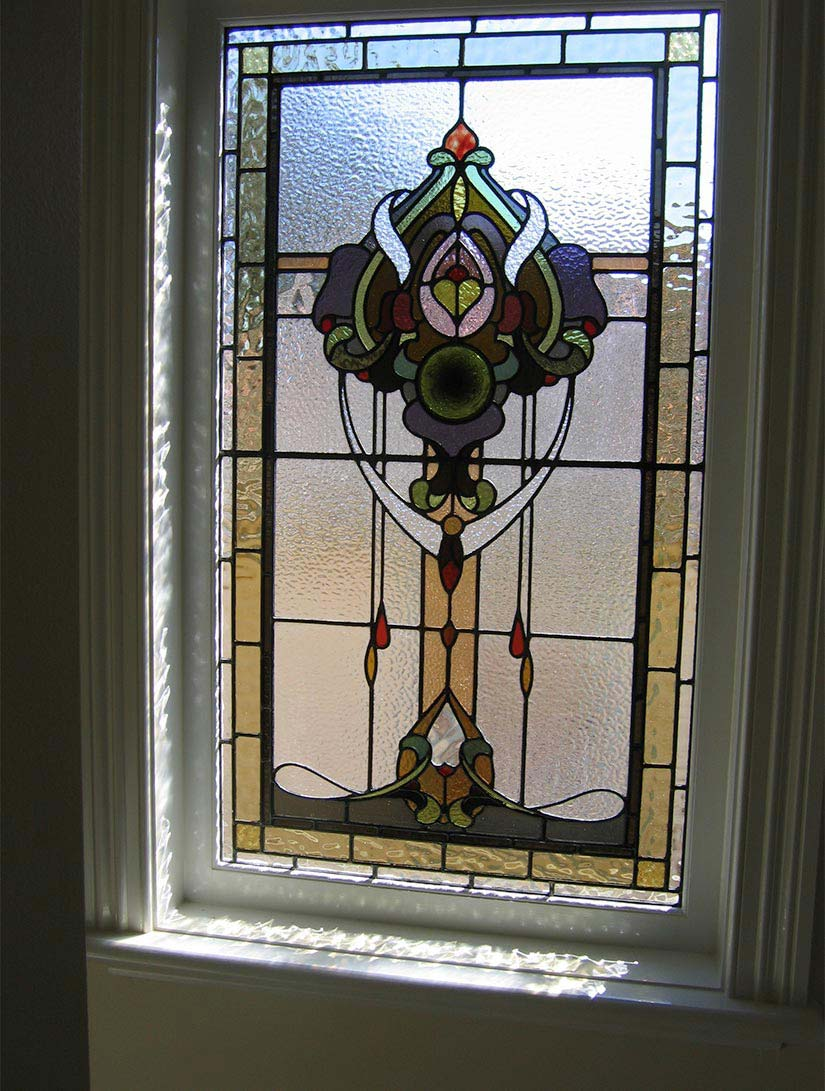 Victorian leadlight window image