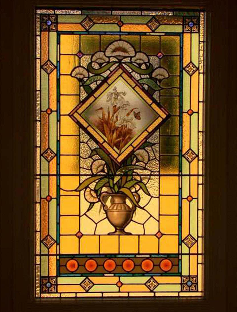 Victorian leadlight glass window