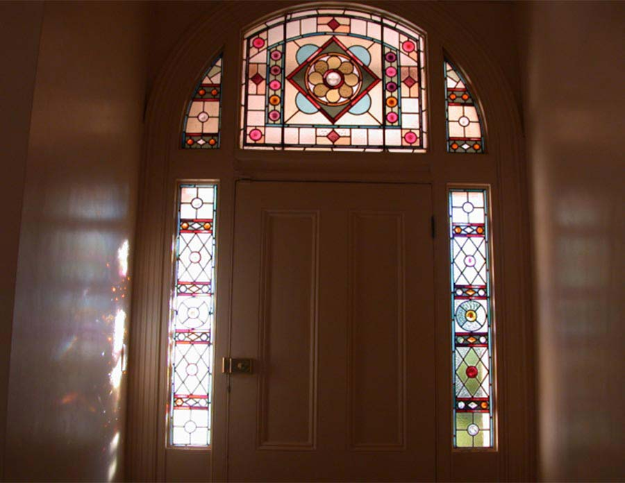 Victorian leadlight glass window design
