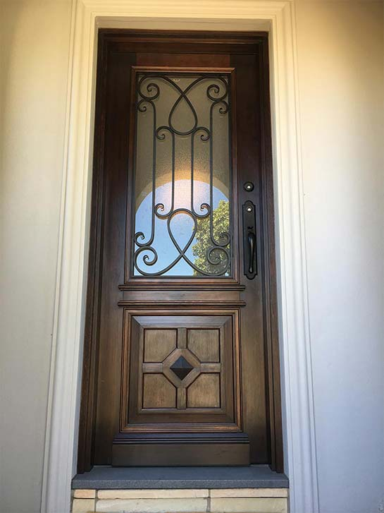 wrought iron front doors Melbourne