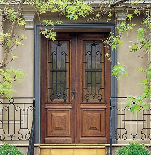 Iron Doors with glass design