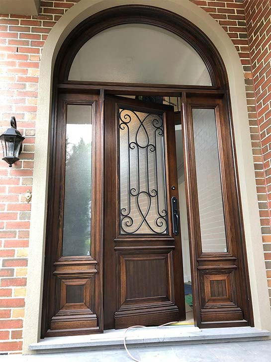 wrought iron entry doors design