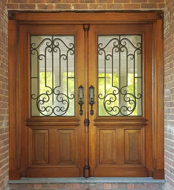 custom made wrought iron security doors melbourne