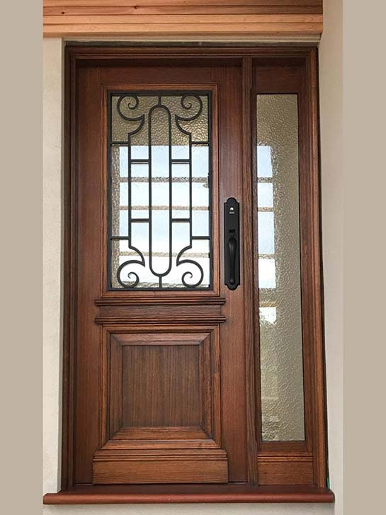 wrought iron entry doors Melbourne